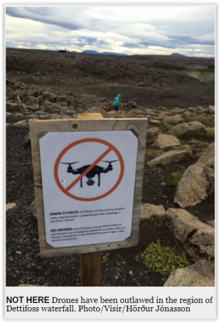 drone in islanda